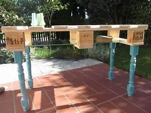 Kleinen Tisch Selber Bauen : tisch aus einer alten palette mit neuen beinen schritt f r schritt anleitung palette ~ Markanthonyermac.com Haus und Dekorationen