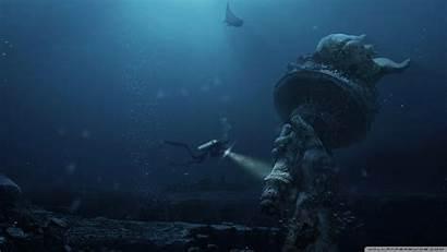 Underwater Ruins 4k Desktop Wallpapers Ultra Background