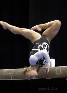 Gymnastics Balance Beam Poses