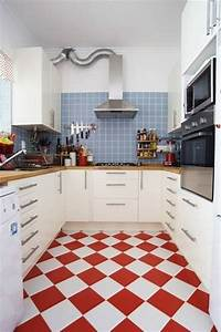 red white kitchen floor tiles film and furniture With kitchen colors with white cabinets with mailbox address stickers