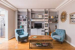 Salon Classique Chic : salon classique chic dans un appartement industriel de 100m2 classique chic salon paris ~ Dallasstarsshop.com Idées de Décoration