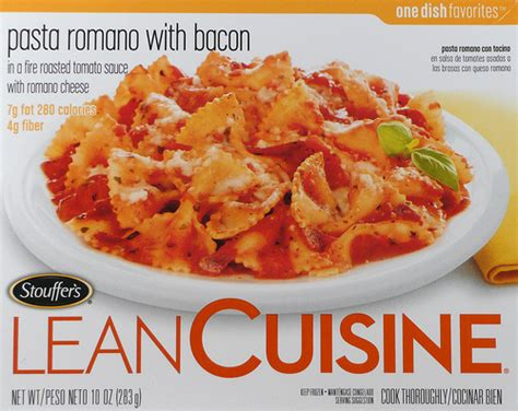 cuisine pasta lean cuisine pasta romano with bacon food in