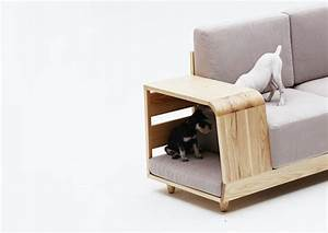 the dog house sofa le canape avec niche pour chien integree With tapis d entrée avec canapé et fauteuil pour chien