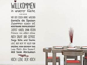 Wandtattoo Sprüche Küche : wandtattoo spr che f r die k che essen trinken ~ Frokenaadalensverden.com Haus und Dekorationen