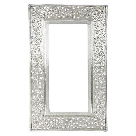 kashmiri cutwork rectangular mirror frame  casa uno