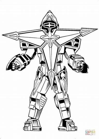 Coloring Pages Robot Power Rangers Megazord Ninja