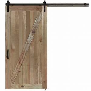 JELD-WEN 42 in x 84 in Rustic Unfinished Wood Barn Door
