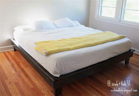 diy bed king size platform bed frame diy furnitureplans