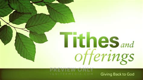 spring leaves tithes  offerings title graphics