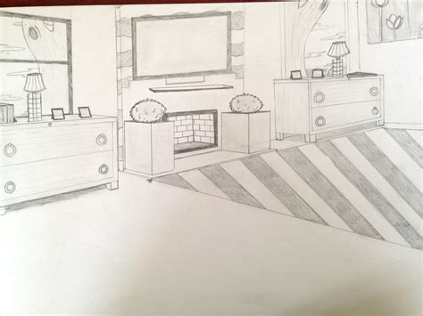 Bedroom Two Point Perspective By Lunarang3l On Deviantart
