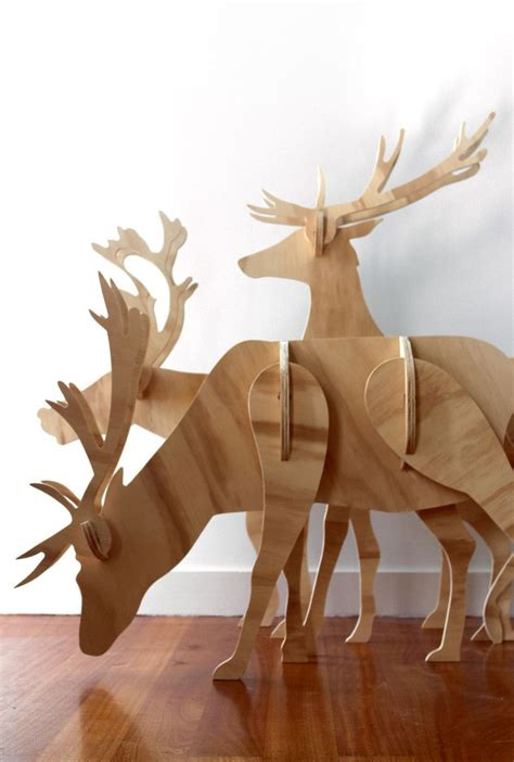 wood christmas patterns outdoor plywood reindeer christmas decorations ply