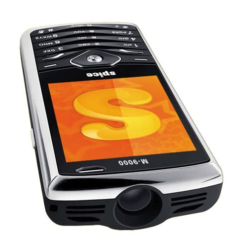 phone with projector technology spice popkorn projector phone
