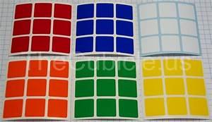 thecubicleus 3x3 standard set 57mm 3x3 sticker picker With 3x3 labels