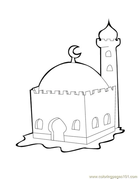 mosque coloring page  religions coloring pages