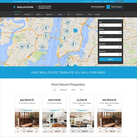 20+ Top Real Estate Website Templates  Make A Difference