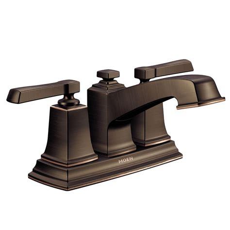 moen boardwalk robinet de salle de bain 224 2 poign 233 es fini bronze m 233 diterran 233 en home depot canada
