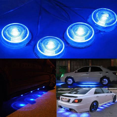 blue lights for cars 8pcs blue light led car glow underbody lights