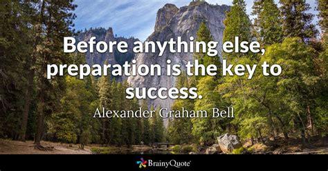 preparation   key  success