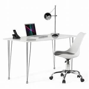Bureau Noir Et Blanc : chaise de bureau design paul en polyur thane et m tal ~ Melissatoandfro.com Idées de Décoration