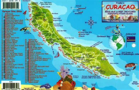 waterproof wall board caribbean fish card curacao 2010 by frankos maps ltd
