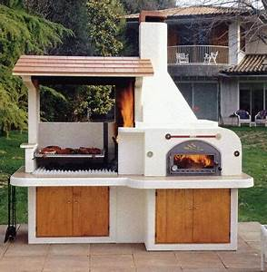 Barbecue En Pierre Mr Bricolage : barbecue en pierre avec toiture ~ Dallasstarsshop.com Idées de Décoration