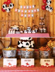 Cowboy First Birthday Party Idea