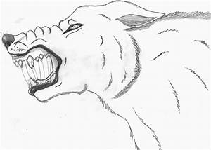 Snarling wolf by DemonfromAbove1 on deviantART