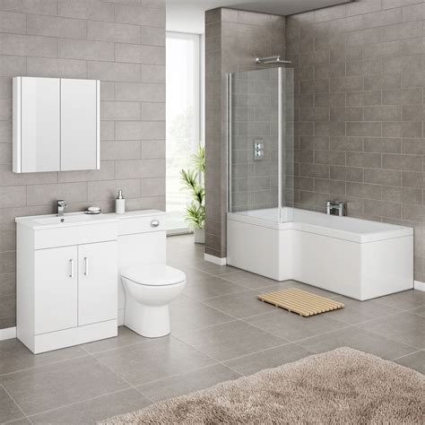 bathroom suite ideas turin high gloss white vanity unit bathroom suite with