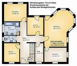Grundriss Haus Mit Erker : winkelbungalow 110 mit erker einfamilienhaus neubau massivbau stein auf stein ~ Indierocktalk.com Haus und Dekorationen