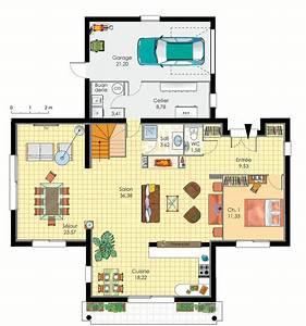maison d39architecte detail du plan de maison d With realiser plan de maison 7 architecte chasselay