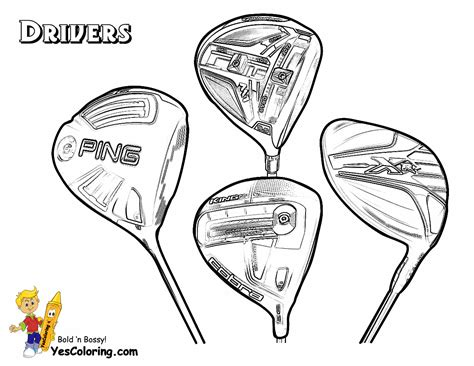 Gusto Golf Coloring Pictures