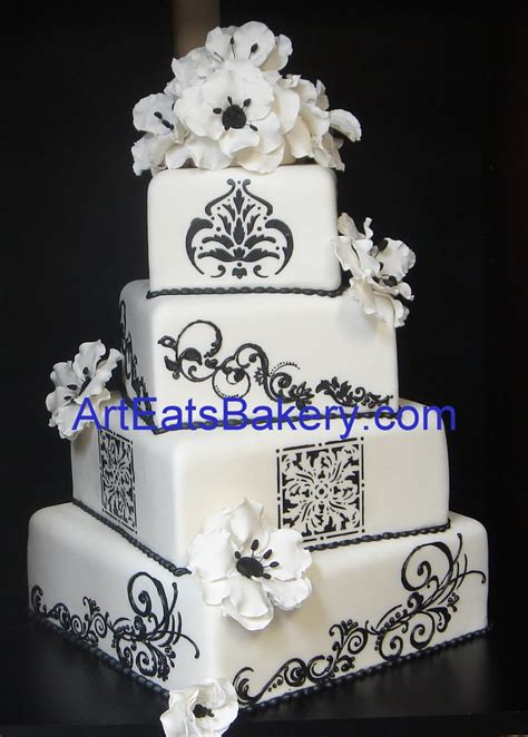 wedding cake ideas black and white black and white wedding cake designs and pictures