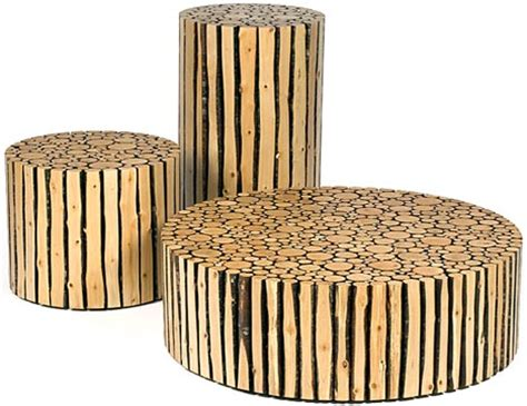 Creative Custom Log Craft: Rustic Modern Wood Furniture