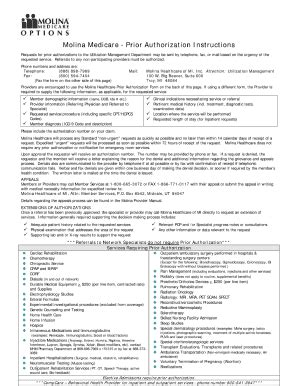 molina medicaid prior auth forms michigan fill