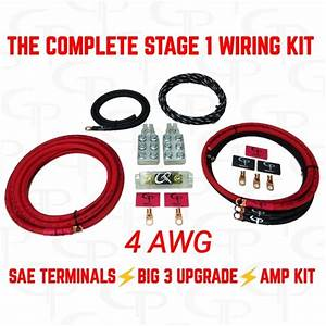 The Complete  4 Awg Stage 1 Wiring Kit