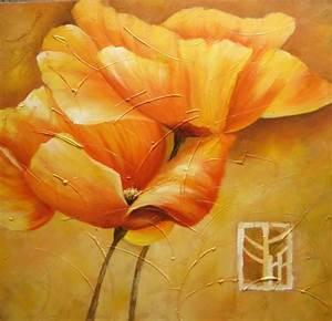 Tableau Fleurs Moderne : peinture moderne fleur jaune tableau fleurs jaunes grands ~ Teatrodelosmanantiales.com Idées de Décoration