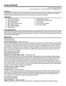 fitness director resume exle royalty athletic club