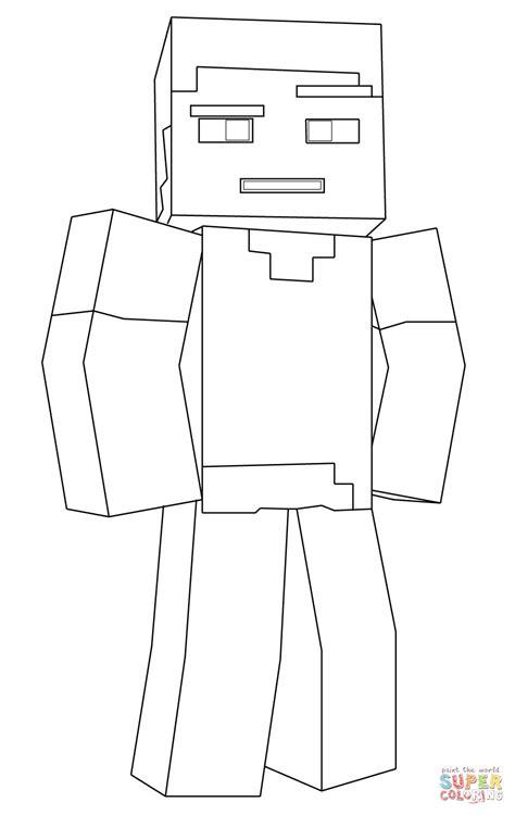 disegni da colorare e stare di minecraft disegno di steve con spada di diamante di minecraft da