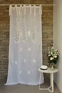 Rideau En Lin Blanc : rideau voile de lin blanc mod le nantes le monde de rose ~ Melissatoandfro.com Idées de Décoration
