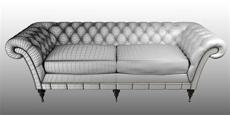 Divano Chesterfield 3ds Max : Modeling The Chesterfield Sofa