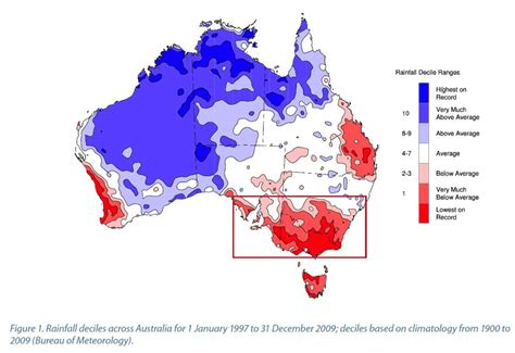 map  rainfall deciles  australia