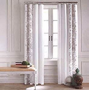 hilfiger paisley scrolls boteh pattern window panels 52 by 96 inch set of 2