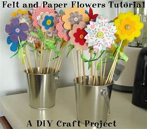 Felt and Paper Flowers Tutorial: DIY Craft Project ...