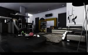 black modern living room hardwood floors interior design - Black Livingroom Furniture