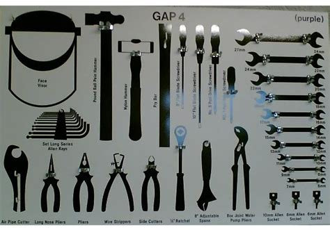 Tool Wall Template by Tool Shadow Board Stickers Google Search Tool