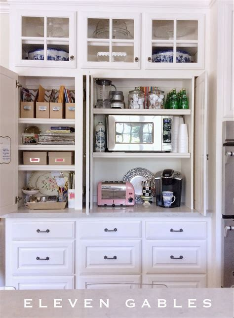 Appliance Cupboards by Appliance Cabinet And Desk Command Center In The