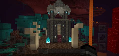 nether survival base map minecraft pe maps