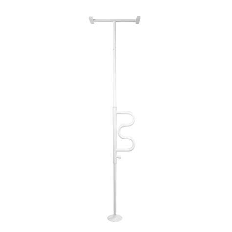 Floor To Ceiling Tension Support Pole by Stander Security Pole And Curve Grab Bar Tension Mounted