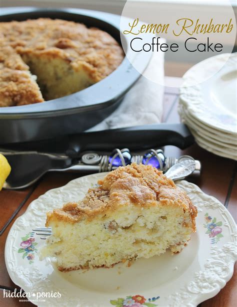 The buttermilk makes the sponge lovely and soft with a great flavour, and slightly denser than a traditional sponge. Lemon Rhubarb Coffee Cake