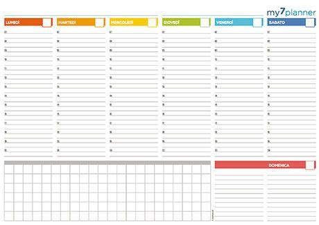 Planning Settimanale Da Scrivania by Planner Settimanale Da Tavolo Stabili Calendario